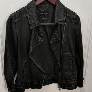 All Saints Ryder Coated Denim Jacket